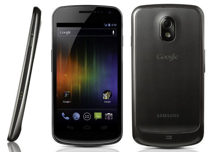 Imagen desde varios ángulos del Samsung Galaxy Nexus