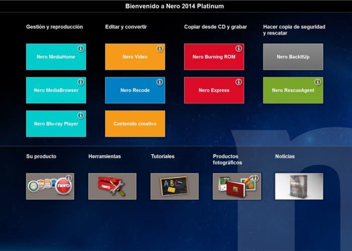 Launcher Nero Platinum 2014