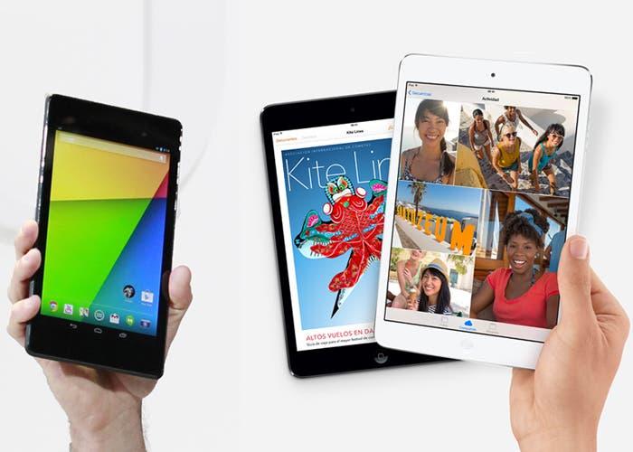 Google Nexus 7 versus iPad mini con pantalla Retina